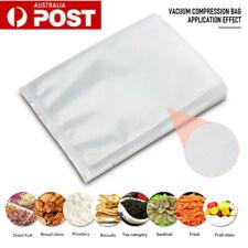 100pc Vacuum Food Storage Sealer Bags Precut Pouches Textured Heat Seal AU