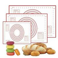 US Non Stick Silicone Baking Mat Kneading Rolling Dough Pad Sheet Kitchen Tools^