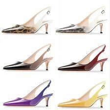 Elegant Ladies Mid Kitten Heel Bridal Smart Evening Dress Office Work Sandals L