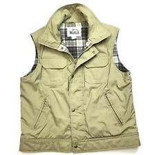 Woolrich Men's L Khaki Beige Multi Pocket Padded Zip-up Hiking Hunting Vest