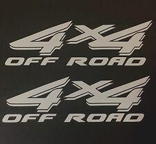 SILVER 4X4 OFF ROAD DECAL STICKER TRUCK FORD F-150 CHEVY SILVERADO DODGE TOYOTA