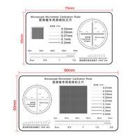 Microscope Micrometer Calibrator Ruler High Precision Film Point Gauge Ruler