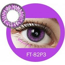 Lentille de couleur violet 2 tons FT82P3 - violet color contact lenses