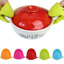 Kitchen Silicone Oven Gloves Heat Resistant Mini Mitten Pot Holder Cooking BBQ