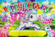 MY LITTLE PONY HAPPY BIRTHDAY PARTY POSTER/BANNER - PARTY SUPPLIES