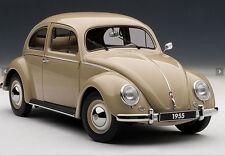 Car Model AUTOART 1:18 Volkswagen Beetle 1200 Limousine (1955) (Beige) + GIFT!!