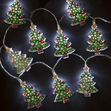 Caja de 10 Metal Árbol Navidad Batería LED Luces – Interior Decoración