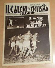 IL CALCIO E IL CICLISMO ILLUSTRATO  N° 51 1963  AZZURRI  ORIGINALE  !!!!!