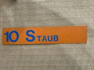 Rusty Staub 1986 Mets Game Used Locker Room Name Tag MEARS & Mets Employee LOA
