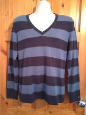 Tommy Hilfiger blue rugby stripes cotton blend jumper men's XL