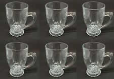 Set of Six 110ml Glass Cappuccino Tea Coffee Latte Hot Chocolate Cups Mugs