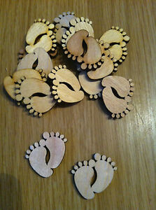 Wooden Baby Feet, various sizes available, cardmaking, embellishment