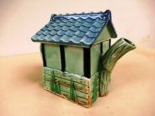 Vintage Cottage Teapot Porcelain Majolica House Shaped Teapot Collectibles Old*F