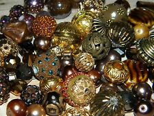 NEW RANDOMLY Picked 25/pc BROWN'S Jesse James mixed beads lot loose Beads