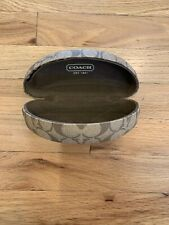 Authentic Coach Signature Large Clam Shell Sunglasses Hard Case Holder