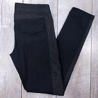 Prana Breathe Outdoor Pants Womens 8 32x31 Black Mid Skinny Straight J223