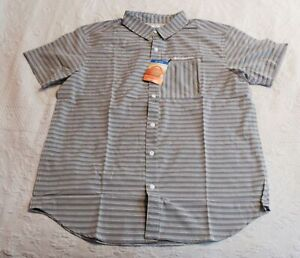 Columbia Men's Twisted Creek II Short Sleeve Button-Up Shirt CM9 Gray Large NWT