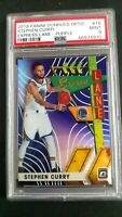 2019 Panini Donruss Optic Stephen Curry 16 Express Lane Purple Graded PSA 9 MINT