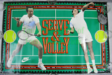 NITF ☆ Vintage ☆ NIKE Poster John McEnroe Serve & Volley ☆ Wimbeldon Grand Slam