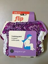 NIP Bumgenius Flip Trainer Cloth Potty Kit Patch Limited Edition Organic NEW
