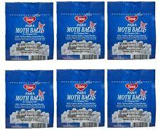 6 Packs of Enoz Para Moth Balls, No Clinging Odor, 4 oz Each, NEW Made In USA