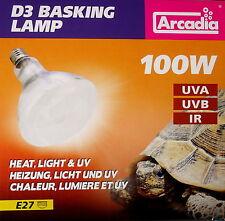 Arcadia D3 Basking Lamp 100 W Terrariemlampe UV Flächenstrahler , kein EVG nötig