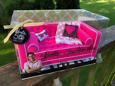 Barbie 50th Anniversary Jonathon Adler sofa, couch, pink, Nrfb