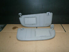 PEUGEOT 406 2000 MK2 PAIR OF SUN VISORS WITH 2 MIRRORS , COVERS & CLIPS