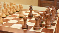 Zeitgenössisches modernes Holz Staunton Schachspiel mit Schachbrett chessbazaar