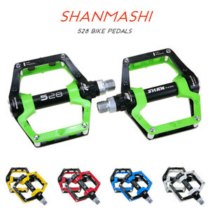 Bicycle Aluminium Alloy Flat Platform Pedal Bike Pedals Sealed Bearing MTB BMX