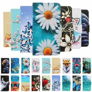 For Xiaomi Redmi 8 Note 7 8 8T Painted Leather Wallet Flip Card Stand Case Cover