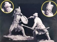 1/32 Resin Figure Model Kit Battle Cossack & Janissary Unassambled Unpainted