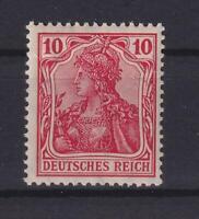 DR 86 I d Germania 10 Pfg. postfrisch gute Farbe dunkelrosarot Fotoattest (et35)
