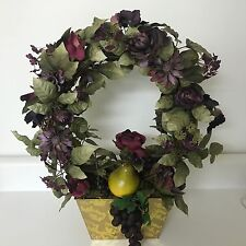 Fall Silk Wreath Floral Flower Potted Arrangement Artificial Faux Plant 2 SIDED