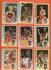 1978-79 Topps basketball you pick 8 EX and better