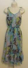 Diane von Furstenberg Delia Blossom Lime ruffle dress 8 DVF green blue chiffon