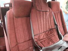 1983-1984 Hurst Olds Cutlass 442 Maple Red Cloth FRONT & REAR Seat Covers Set
