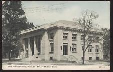 Postcard PANA,Illinois/IL   NEW FEDERAL BUILDING view 1907?