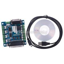 CNC 5 Axis Breakout Board Interface Adapter For Stepper Motor Driver Input Hot