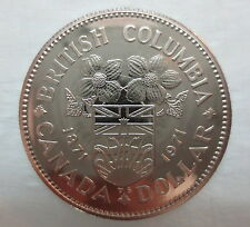 1971 CANADA CENTENNIAL OF BRITISH COLUMBIA PROOF-LIKE ONE DOLLAR COIN