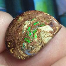 12.85ct Boulder Opal Petrified WOOD/VEGETATION Fossil FIERY Gem Flashes ~ Video