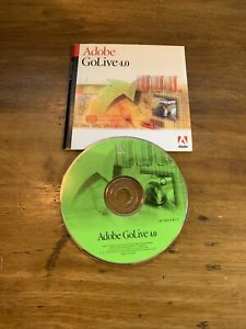 Vintage Adobe GoLive 4.0 for Windows with Serial Number