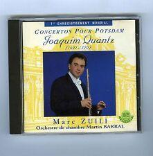 CD JOAQUIM QUANTZ CONCERTO POUR POTSDAM MARC ZUILI (FLUTE) MARTIN BARRAL