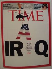 IRAQ WHAT WILL HAPPEN WHEN WE LEAVE JULY 30 2007 TIME MAGAZINE COVER PAGE PHOTO