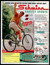 1967 Schwinn Varsity Sports bike photo Stingway Ram's Horn Fastback print ad
