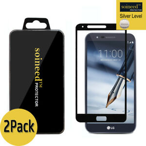 [2-Pack] SOINEED LG Stylo 3 Plus Full Cover Tempered Glass Screen Protector