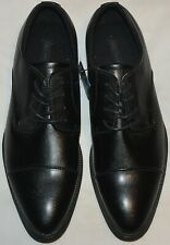 MENS M&S COLLECTION FAUX LEATHER LACE UP DERBY SHOES SIZE 9 BLACK BNWT