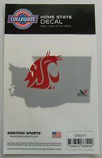 Washington State Cougars Home State Vinyl Auto Decal (NCAA) Washington Shape