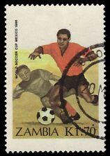 ZAMBIA 352 (SG462) - Mexico '86 World Cup Football Championships (pf95170)
