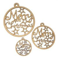 Christmas Baubles Merry Christmas bauble MDF wooden Christmas gift ideas, Xmas